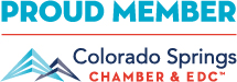 Proud Member Colorado Springs Chamber & EDC logo